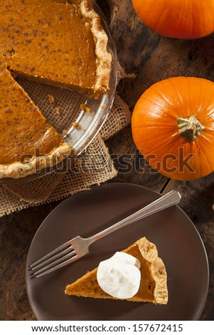 Homemade Delicious Pumpkin Pie made for Thanksgiving