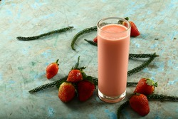 Homemade delicious sweet Indian chilled  rose gheer ,milk