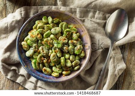 Homemade Garlic Sauteed Fava Beans Ready to Eat