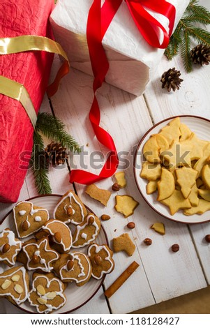 Homemade gingerbread Cookies within decorations