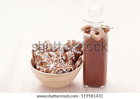 homemade gingerbread liqueur - food and drink