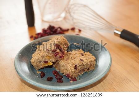 fruit plate healthy oatmeal fruit bars recipe