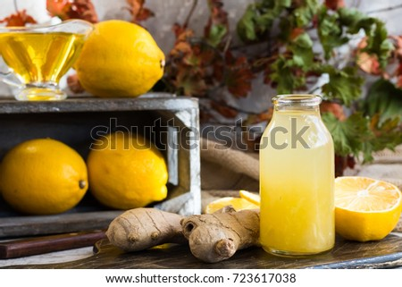 Shutterstock Homemade home remedy for flu and colds from lemon, ginger and honey