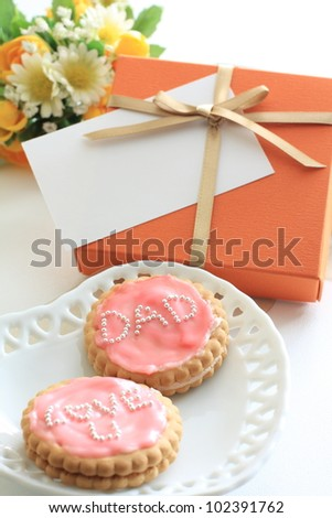 Homemade icing cookie for father's day image
