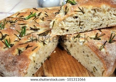 Homemade Italian rosemary Focaccia bread.