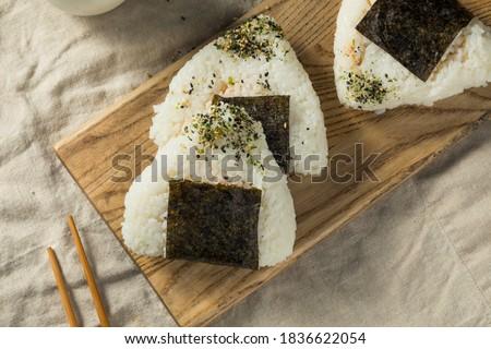 Homemade Japanese Tuna Mayo Onigiri Rice Balls with Nori