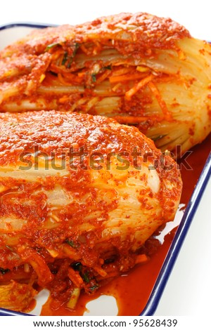 homemade kimchi(napa cabbage), korean traditional food