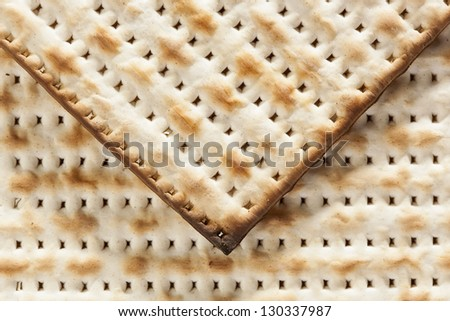 Homemade Kosher Matzo Crackers Made With Flour And Water Stock Photo ...