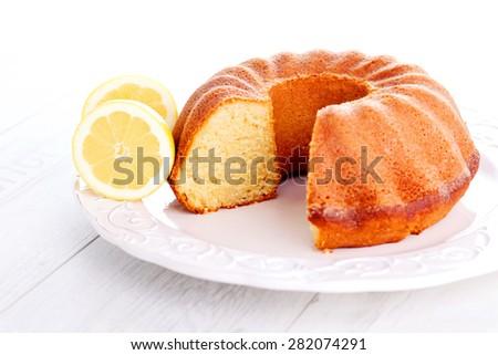 homemade lemon cake - sweet food