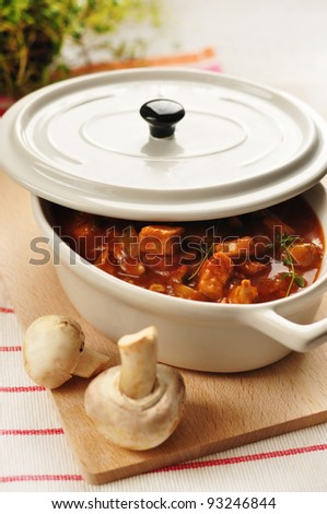 homemade meat and vegetable stew
