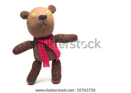 homemade puppet - a teddy bear