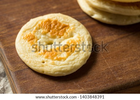Homemade Russian Cocktail Blini Pancakes in a Stack Stock photo ©