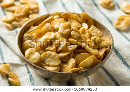 Homemade Salty Roasted Fava Beans in a Bowl