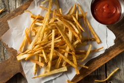 Homemade Shoestring French Fries with Sea Salt