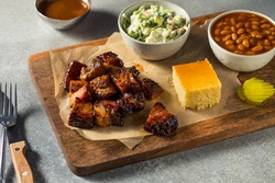 Homemade Smoked Burnt Ends BBQ with Sauce