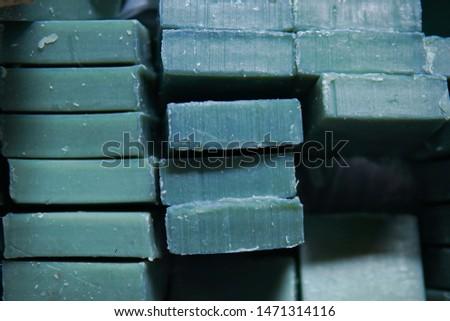 Homemade soaps. Variety of handmade soap bars
