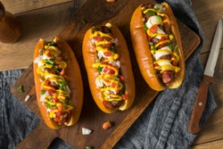 Homemade Sonoran Hot Dogs with Bacon Mustard Mayo