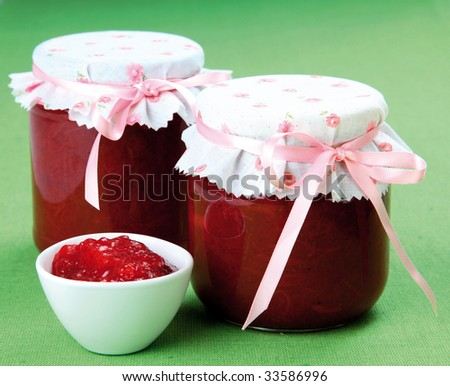 Homemade strawberry/rhubarb jam