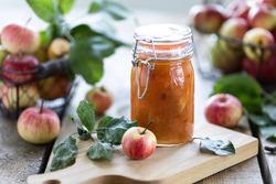 Homemade Sweet Apple Jam - Organic Healthy Vegetarian Food. Apple jam Apple marmalade
