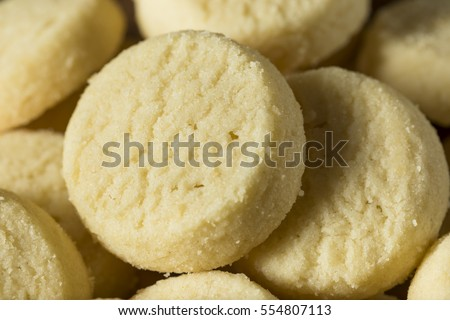Homemade Sweet Shortbread Cookies Ready to Eat