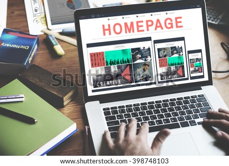 Homepage Address Online Technology Www Concept