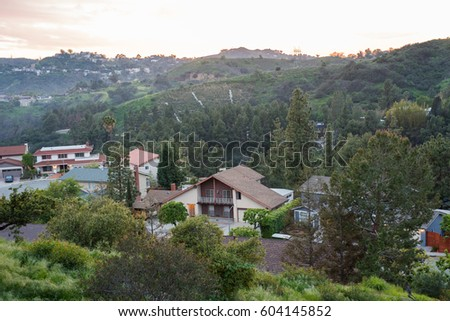 Homes near the Hollywood Hills