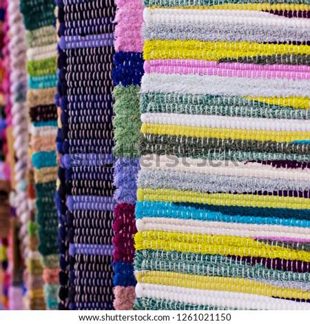 Homespun Multicolored Rugs #1261021150