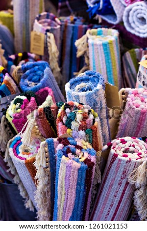 Homespun Multicolored Rugs #1261021153