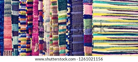 Homespun Multicolored Rugs #1261021156