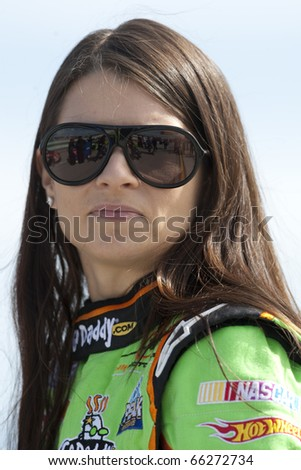 HOMESTEAD, FL - NOV 20:  Danica Patrick waits to qualify for the Ford 300 race on Nov 20, 2010 at the Homestead-Miami Speedway in Homestead, FL.