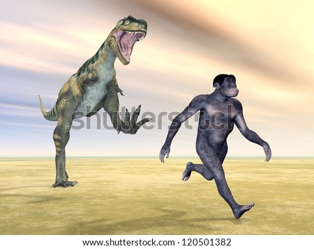 Homo Habilis - Human Evolution Computer generated 3D illustration