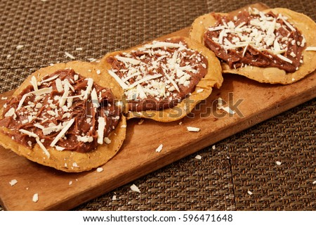 Shutterstock Honduran traditional food: Catrachas