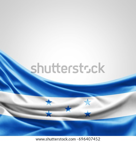 Honduras flag of silk with copyspace for your text or images and white background -3D illustration