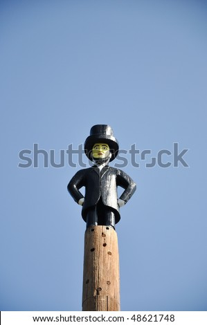 honest abe perched on top of...