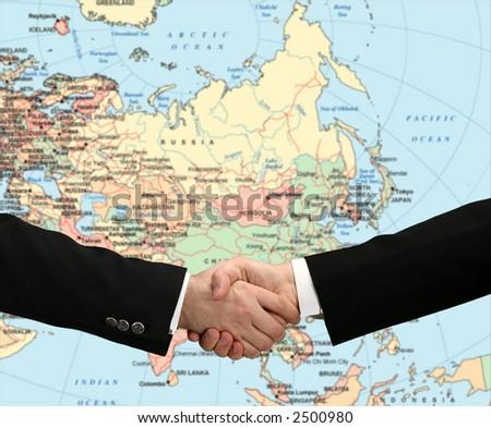Honest handshake - stock photo