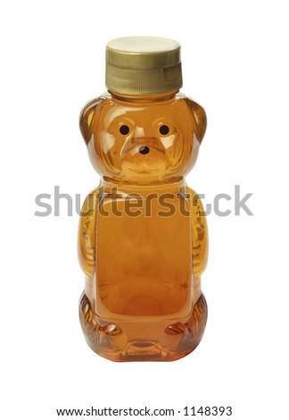 Honey Bear isolated on white