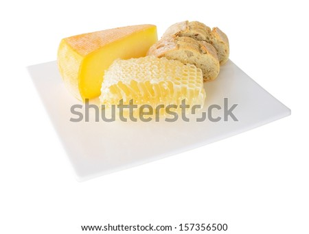 Honey comb with cheese