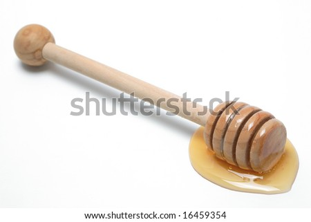 Honey dipper, isolated