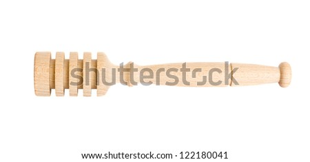 Honey dipper isolated on white background