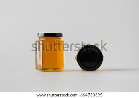Honey Jar Mock-Up - Two Jars