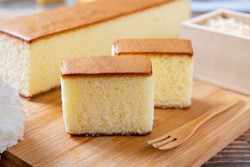 Honey Sponge Cake,  japanese sweets, castella cake,  (Japanese sponge cake)