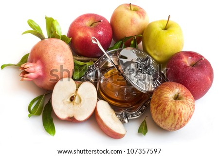 honey with apple for Rosh Hashana