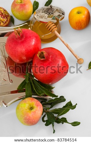 honey with apple for Rosh Hashana – jewish new year
