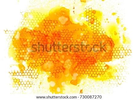 Honeycomb in watercolor