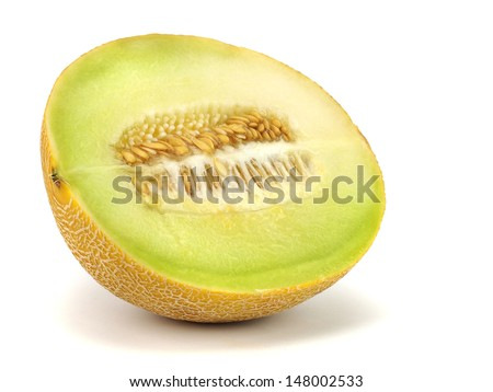 Honeydew melon on a white background    - stock photo