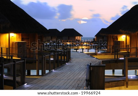 Honeymoon Resort - Beautiful Night of Water Villa on the Beach