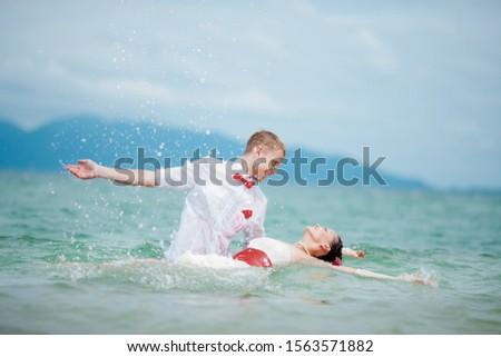 honeymooners on honeymoon in the tropics #1563571882