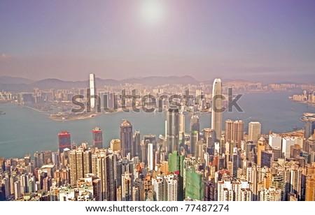 Hong Kong and modern buildings