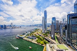 Hong Kong Central finance downtown