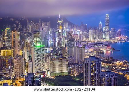 Hong Kong, China City Skyline #192723104